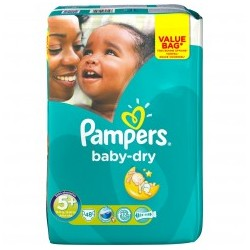 Pack 48 Couches de la marque Pampers Baby Dry taille 5+ sur Tooly
