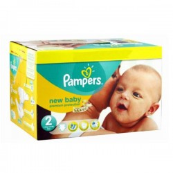 Pack 44 Couches Pampers de la gamme New Baby de taille 2 sur Tooly