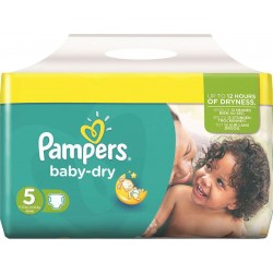 Pack de 54 Couches de Pampers Baby Dry taille 5 sur Tooly