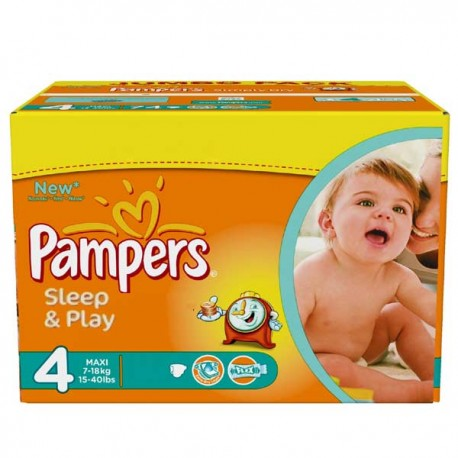 Couches Pampers Taille 4 86 Couches Sleep Play Sur Tooly