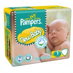 Maxi Pack de 301 Couches Pampers New Baby Dry de taille 1 sur Tooly