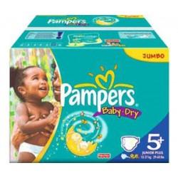 Maxi Pack de 240 Couches de la marque Pampers Baby Dry de taille 5+ sur Tooly