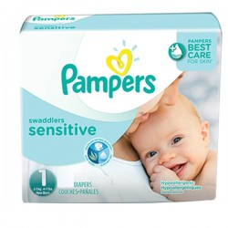 Maxi Pack de 230 Couches Pampers New Baby Sensitive taille 1 sur Tooly