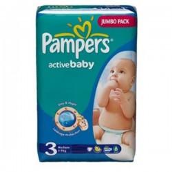 Pack d'une quantité de 96 Couches Pampers Active Baby taille 3 sur Tooly