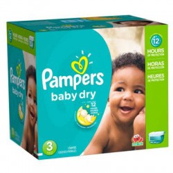 Giga Pack 280 Couches Pampers Baby Dry de taille 3 sur Tooly