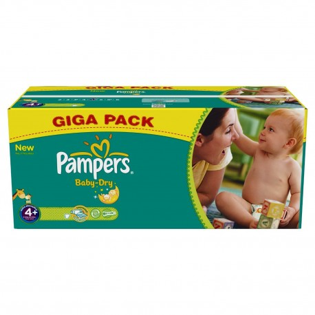 Couches Pampers Taille 4 336 Couches Baby Dry Sur Tooly