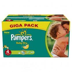 Pack économique d'une quantité de 372 Couches Pampers Baby Dry taille 4 sur Tooly