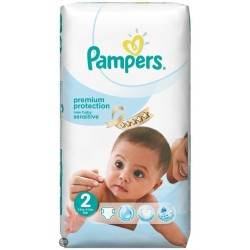 Pack 60 Couches Pampers New Baby Sensitive taille 2 sur Tooly