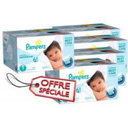 Maxi Giga Pack Jumeaux 507 Couches de la marque Pampers New Baby Sensitive de taille 1 sur Tooly