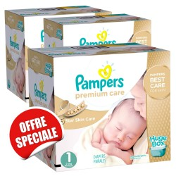 Maxi giga pack de 506 Couches de la marque Pampers Premium Care taille 1 sur Tooly