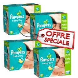 Giga Pack d'une quantité de 920 Couches de la marque Pampers Baby Dry taille 4 sur Tooly