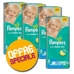 Giga Pack 252 Couches Pampers Active Baby Dry 5 sur Tooly