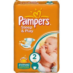 Pack 18 Couches Pampers Sleep & Play de taille 2 sur Tooly