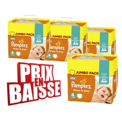 Gros pack 550 Couches Pampers Sleep & Play taille 4 sur Tooly