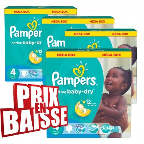 Couches Pampers Taille 4 Active Baby Dry Sur Tooly