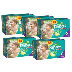 Gros pack 304 Couches Pampers Baby Dry taille 6+ sur Tooly