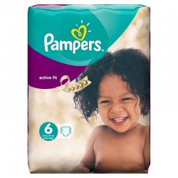 Pack 31 Couches Pampers Active Fit taille 6 sur Tooly