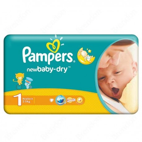 Couches Pampers Taille 1 43 Couches New Baby Dry Sur Tooly