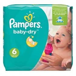 Pack d'une quantité de 58 Couches Pampers Baby Dry taille 6 sur Tooly